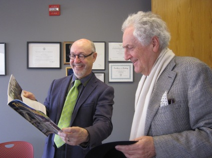 Dean and CARTA Faculty Council Director Mark Gelernter, PhD visits with Architect Léon Krier